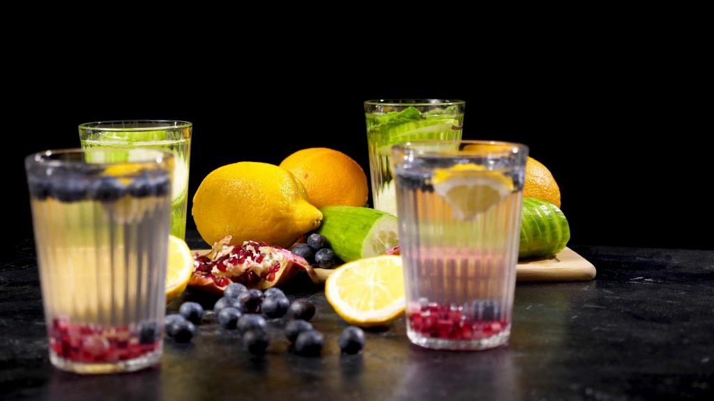 eaux et fruits